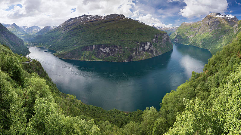 A view of Geirangerfjord from Ørnesvingen, Norway