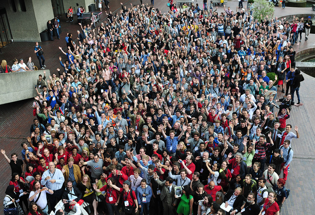 Wikimania 2014 group photo